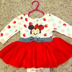 Minnie Mouse tutu dress EUC